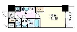 S-RESIDENCE江坂Eminence 9階1Kの間取り