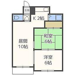 パルコート53[4階]の間取り