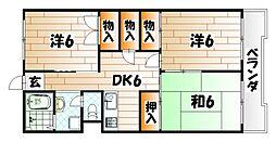 杏林ビル[5階]の間取り