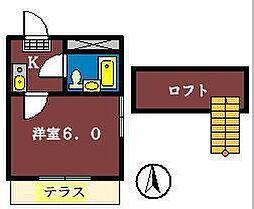 ジュネパレス津田沼第20[104号室]の間取り