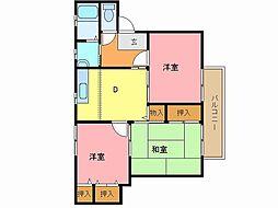 兵庫県姫路市辻井1丁目の賃貸アパートの間取り