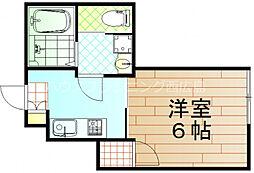 広島電鉄宮島線 修大協創中高前駅 徒歩9分の賃貸アパート 1階1Kの間取り