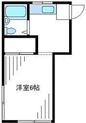 東京都新宿区西新宿4丁目の賃貸アパートの間取り