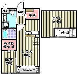 ガーデンハウスエアリー[2階]の間取り