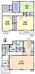 [一戸建] 千葉県船橋市大穴南4丁目 の賃貸【/】の間取り