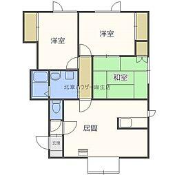 リバーサイド29 F棟[2階]の間取り