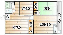 石川ハイツII[2階]の間取り