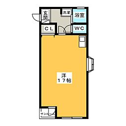 グローリ・2[2階]の間取り