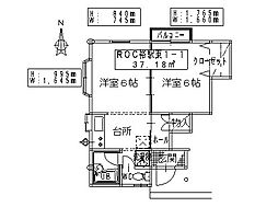 ROC裕駅東[1-1号室]の間取り