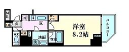 ファーストフィオーレ東梅田 4階1Kの間取り