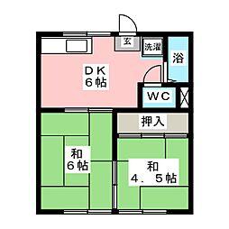 メゾン斉藤[1階]の間取り