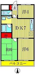 柴又第2STマンション[3階]の間取り