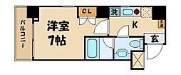 東京都台東区花川戸1丁目の賃貸マンションの間取り