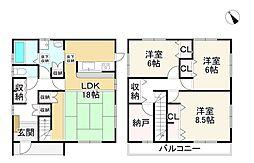 JR東海道・山陽本線 守山駅 バス20分 河西口下車 徒歩9分 3SLDKの間取り