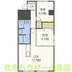 ライオンズマンション第7大通[6階]の間取り
