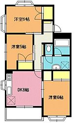 リバーフィールドマンション[2階]の間取り