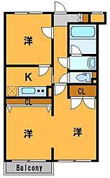 神奈川県横浜市神奈川区白幡南町の賃貸マンションの間取り