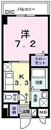 リバーコート浅香[4階]の間取り