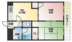 シャトー晃正[2階]の間取り