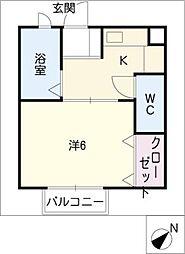 タウニー21III棟[2階]の間取り