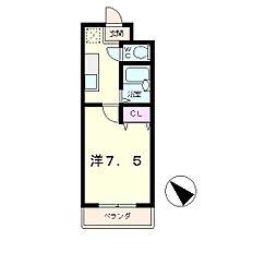 エクセルナカムラ[1階]の間取り
