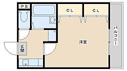 兵庫県姫路市北今宿3丁目の賃貸アパートの間取り