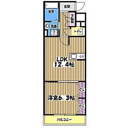 東京都練馬区関町南4丁目の賃貸マンションの間取り