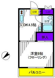 第3エビスコ−ポ[2階]の間取り