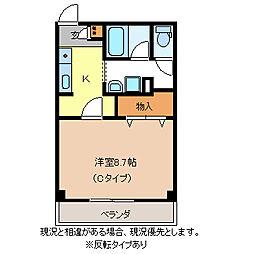 竹村ビル[6階]の間取り