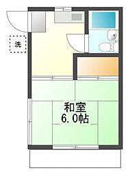 上野町アパート[1階]の間取り