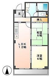 愛知県名古屋市中川区外新町3丁目の賃貸マンションの間取り