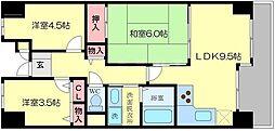 ライオンズマンション新大阪第6[8階]の間取り