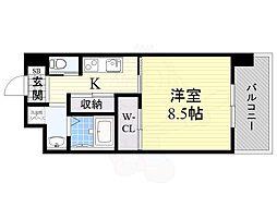 PHOENIX Clove Tomoi 4階1Kの間取り