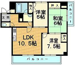 アーチスト島田[3階]の間取り