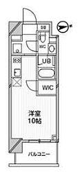 都営浅草線 高輪台駅 徒歩5分の賃貸マンション 6階ワンルームの間取り