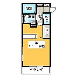新築 四日市中川原アパート[2階]の間取り