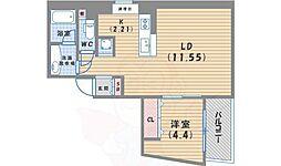 LLOYD(ロイド) 4階1LDKの間取り