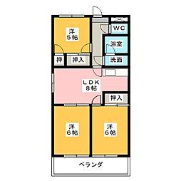 メゾンローゼ[4階]の間取り
