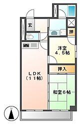 リエス千代田[3階]の間取り