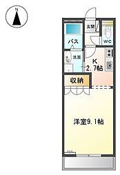 レシェンテIII[2階]の間取り