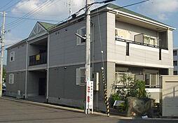 京都府京田辺市草内禅定寺の賃貸アパートの外観
