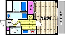 兵庫県芦屋市松ノ内町の賃貸アパートの間取り