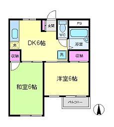 JR東海道本線 川崎駅 バス20分 小田5丁目下車 徒歩2分の賃貸マンション 3階2DKの間取り
