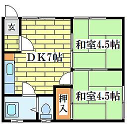 清和ハウス[1階]の間取り