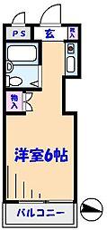 TOP原木中山第3[206号室]の間取り