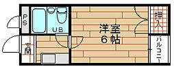 大阪府大阪市港区磯路1丁目の賃貸マンションの間取り