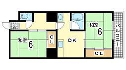 兵庫県神戸市長田区野田町5丁目の賃貸マンションの間取り