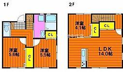 [テラスハウス] 岡山県岡山市北区白石丁目なし の賃貸【/】の間取り
