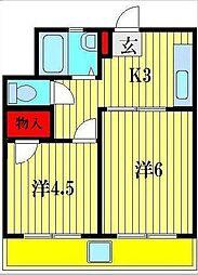 マンション戸部[1階]の間取り