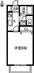 KEコーポ古雅[202号室]の間取り